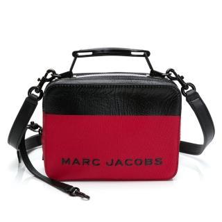 【MARC JACOBS 馬克賈伯】THE SOFTSHOT 21_The Mini Box 20 Bag 雙拉鍊牛皮手提/肩背兩用包(多色任選)