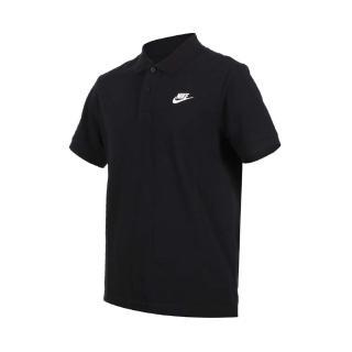【NIKE 耐吉】男短袖POLO衫-短袖上衣 慢跑 高爾夫 網球 羽球 休閒 純棉 黑白(CJ4457-010)