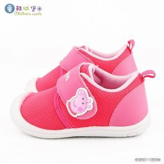 【童鞋城堡】佩佩豬 素面款透氣寶寶鞋  粉紅豬小妹(PG8519-桃)