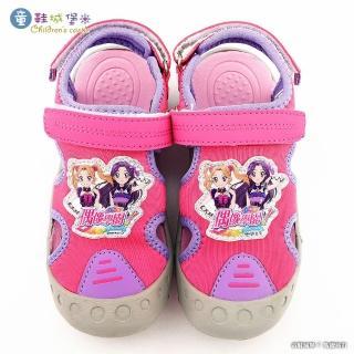 【童鞋城堡】護趾運動涼鞋 偶像學園(ID4418-桃)