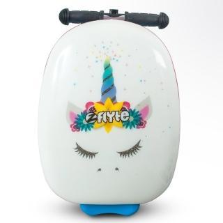 【Zinc Flyte】多功能行李箱滑板車-克洛伊獨角獸(有贈品)