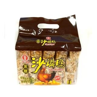 【卡賀】手提黑糖沙琪瑪500g(卡賀 沙琪瑪 餅乾 休閒食品)