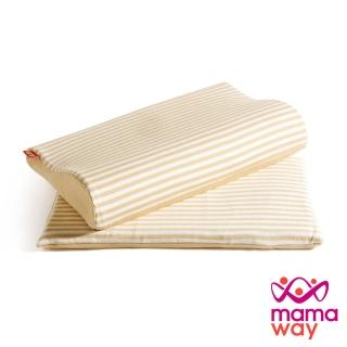 【mamaway 媽媽餵】智慧調溫抗菌三合一成長枕(新生兒枕x1+弧形枕x1)