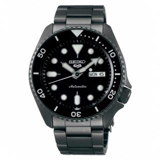 【SEIKO 精工】5 Sports IP黑面水鬼機械鏈帶腕錶x42.5mm(4R36-07G0SD/ SRPD65K1)