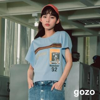 【gozo】運動圖標背心上衣(二色)