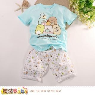 【魔法Baby】男童裝 角落小夥伴正版純棉短袖居家睡衣套裝(k51417)