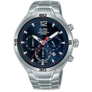 【ALBA】IG廣告款-型男計時錶-藍x44mm(VD53-X353B AT3G37X1)