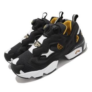 【REEBOK】休閒鞋 Instapump Fury 運動 男女鞋 經典款 充氣科技 舒適 避震 情侶穿搭 黑 白(FW4754)