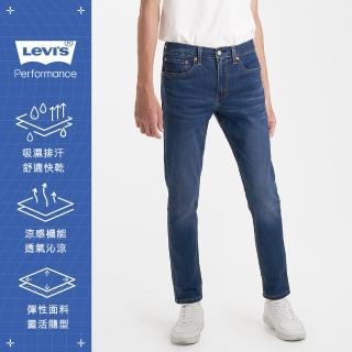 【LEVIS】男款 上寬下窄 / 512低腰修身窄管牛仔褲 / Cool Jeans 輕彈有型 / 中藍微刷白-人氣新品