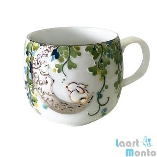 【Laart Monto 拉蒙朵】蕭季箴-月光森林(鎏白金陶瓷杯)