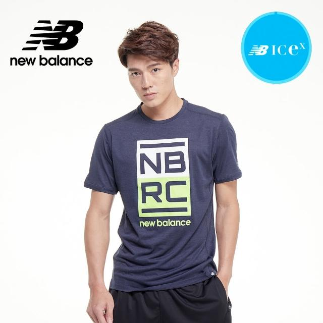 【NEW BALANCE】NB ICEX 印花短袖_男款_深藍色_AMT01235ELR