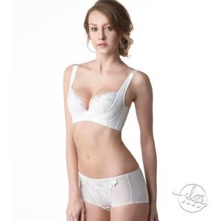 【LADY】安布羅莎系列 刺繡機能調整型成套內衣 B-D罩(暮光白)