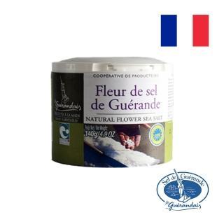 【葛宏德】法國葛宏德鹽之花罐裝 140G(進口食材)