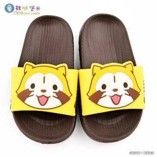 【童鞋城堡】兒童輕量拖鞋 小小浣熊(PR0194-咖)