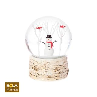 【HOLA】聖誕雪人樹林水球擺飾13cm