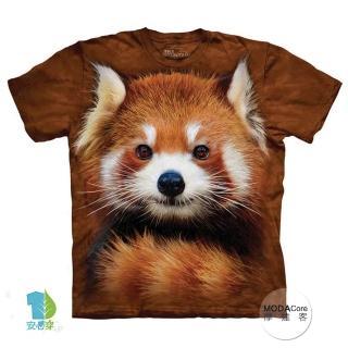 【摩達客】美國進口The Mountain  紅貓熊小熊貓 兒童版純棉環保短袖T恤(現貨)