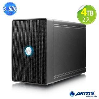 希捷 NAS Pro 8TB【AKiTiO】鐵甲威龍 U31C(3.5吋 USB3.1 雙槽磁碟陣列)