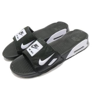 【NIKE 耐吉】涼拖鞋 Air Max 90 Slide 女鞋 海外限定 輕便 舒適 氣墊 穿搭 夏日 黑 白(CT5241-002)