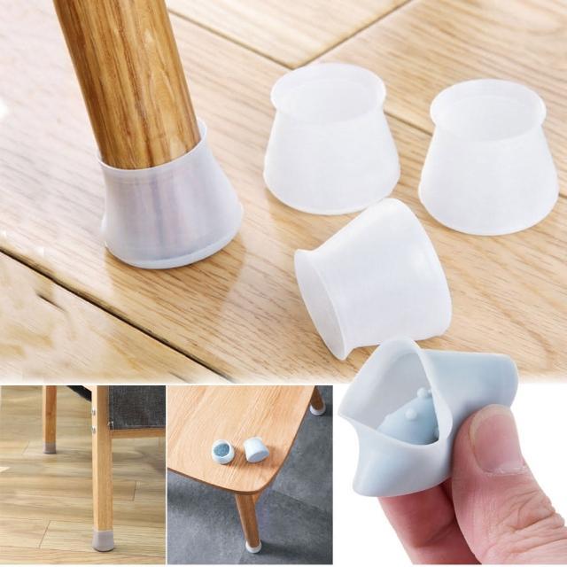 【EZlife】矽膠桌椅腳靜音防刮痕保護套(12顆組)/