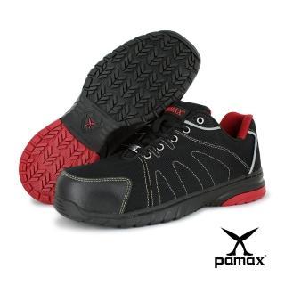 【PAMAX 帕瑪斯】運動風、超透氣高抓地力止滑安全鞋(PS66607FEH 黑紅)