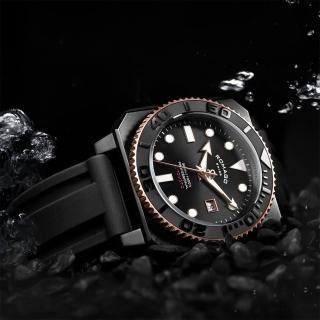 【ROMAGO】專業深潛者 300系列-黑色/46mm(RM109-BKBK)