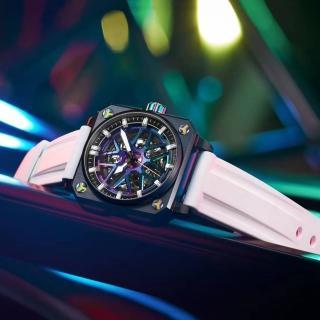 【ROMAGO】極速鏤空自動腕錶-幻彩/46.5mm(RM105-SP)