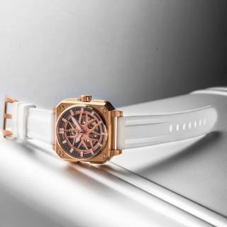 【ROMAGO】極速鏤空自動腕錶-玫瑰金/46.5mm(RM105-RG)