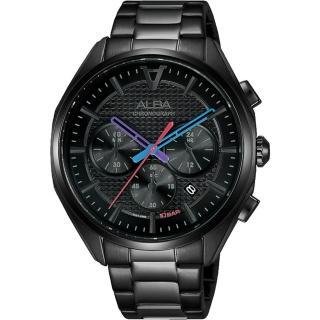 【ALBA】雅柏 東京賽車計時手錶42mm(AT3G99X1/VD53-X366SD)