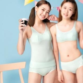 【BeenTeen 嬪婷】學生 ACE ICE纖維系列 M-3L中腰三角內褲-包覆性佳 穿著舒適 BS3195C6(清爽綠)