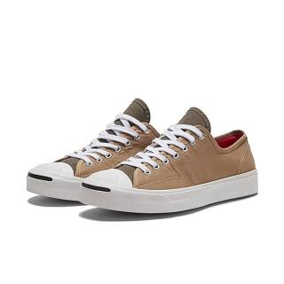 【CONVERSE】JACK PURCELL OX NOMAD KHAKI/WHITE/BLACK 休閒鞋 男女 奶茶色拼接(168678C)