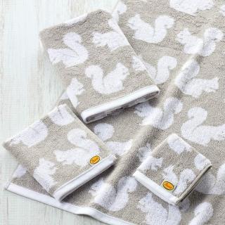 【Marushin 丸真】Anorak英倫設計款洗臉巾(松鼠)