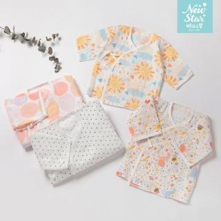 【NEW STAR】MIT親膚純棉寶寶紗布衣肚衣4入組(嬰兒用品 紗布肚衣 台灣製 肚衣 上衣紗布衣 嬰兒 聖哥)