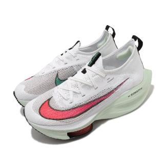 【NIKE 耐吉】慢跑鞋  Alphafly Next 頂級 女鞋 Zoom 套腳 避震 路跑 球鞋 白 紅(CZ1514-100)