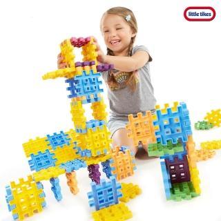 【Little Tikes】鬆餅積木-60件(從2D到3D的積木組合)