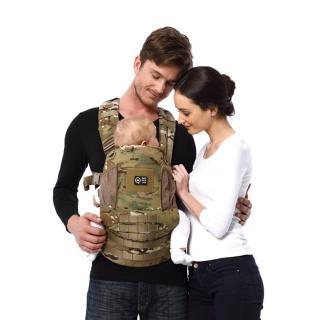 【Quokkajoy】美國Multicam1.0版 舒適減壓嬰兒背帶 寶寶 背巾(迷彩 Baby Carrier 揹巾)