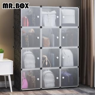 【Mr.Box】12格12門包包防塵收納組合櫃 深37cm(兩色可選)