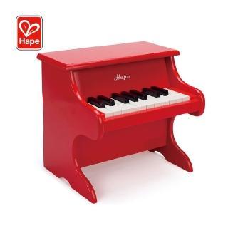 【Hape 愛傑卡】古典仿真木製鋼琴(18琴鍵)