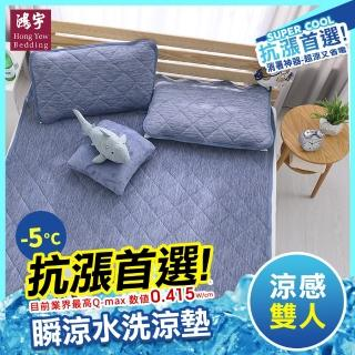 【HongYew 鴻宇】涼感-5度C 瞬涼可洗抗菌雙人保潔墊(SUPERCOOL接觸涼感)