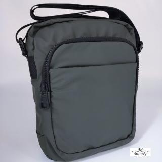 【Misstery】側背包防潑水直立式側肩背包-綠(熱壓PU面料系列)