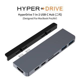 【HyperDrive】7-in-2 USB-C Hub 二代-太空灰(HyperDrive)