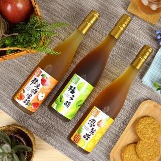 【上班這黨事推薦】醋桶子三年熟成600ml果醋4件組(鳳梨+蘋果+梅子+檸檬)
