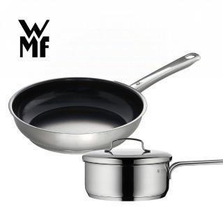 【德國WMF】Devil陶瓷平底鍋/平煎鍋28cm+單手鍋16cm(含蓋)/
