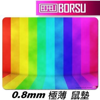 【BORSU】極薄鼠墊_UNIQUE_虹彩式樣5(台灣製 滑鼠墊 彩色 耐用 繽紛 彩虹)