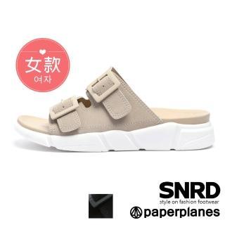 【Paperplanes】韓國空運來台。高端品味雙帶舒壓涼拖鞋(7-0273/二色-現貨+預購)/