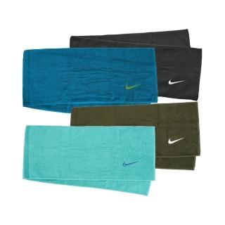 【NIKE 耐吉】Nike Towel 25x120cm 長型 毛巾 慢跑 馬拉松 運動 吸汗 柔軟 盒裝 黑(N1001540010NS)