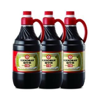 【龜甲萬】甘醇醬油PET1600ml 3入組(100%純釀造)
