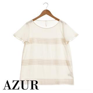 【AZUR】千層奶油甜美雪紡上衣