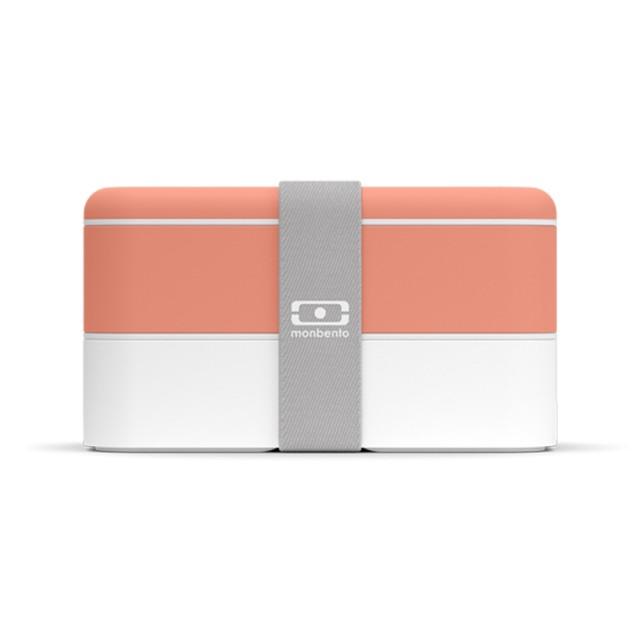 【Monbento】雙層餐盒-熱帶橘/白/