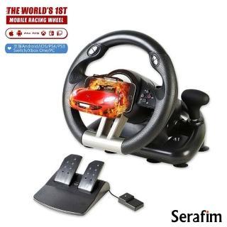 【Serafim】R1+ 賽車方向盤+踏板(支援安卓/iOS/Switch/PS4/Xbox/PC)