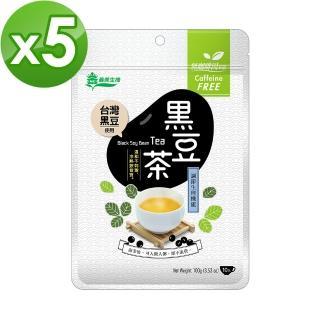 【義美生機】台灣黑豆茶100g 5件組(無咖啡因)